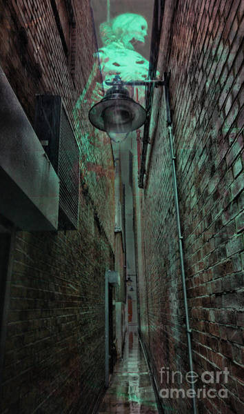 Brick Gothic Photograph - Narrow Street by Jasna Buncic