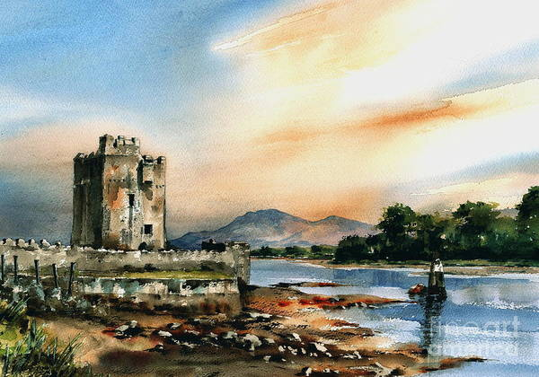 Painting - Narrowwater Castle   Down by Val Byrne