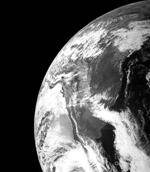 Photograph - Nasa Earth From Juno Spacecraft by Rose Santuci-Sofranko