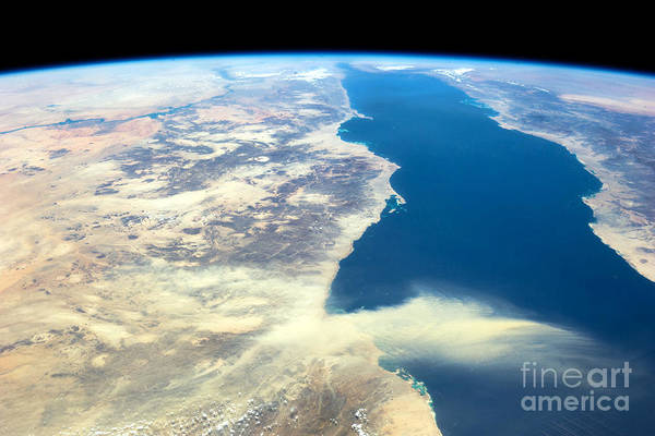 Photograph - Nasa Egyptian Dust Plume And Red Sea by Rose Santuci-Sofranko