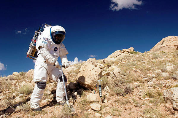 Meteor Crater Photograph - Nasa Field Test by Nasa/science Photo Library