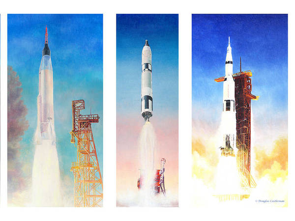 Painting - Nasa Rockets by Douglas Castleman