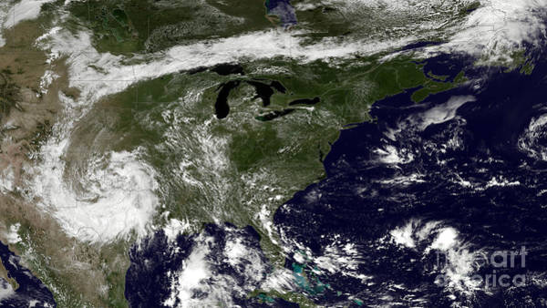 Photograph - Nasa Satellite Map Of Heat Wave Over The United States by Rose Santuci-Sofranko