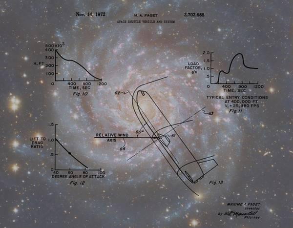Wall Art - Digital Art - Nasa Space Shuttle Patent by Dan Sproul