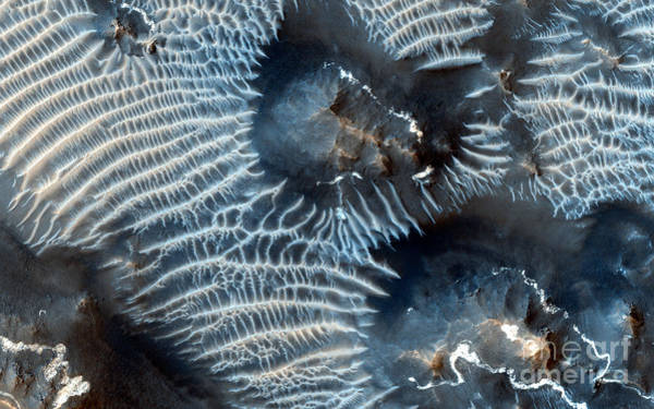 Photograph - Nasa Two Generations Of Windblown Sediments On Mars by Rose Santuci-Sofranko