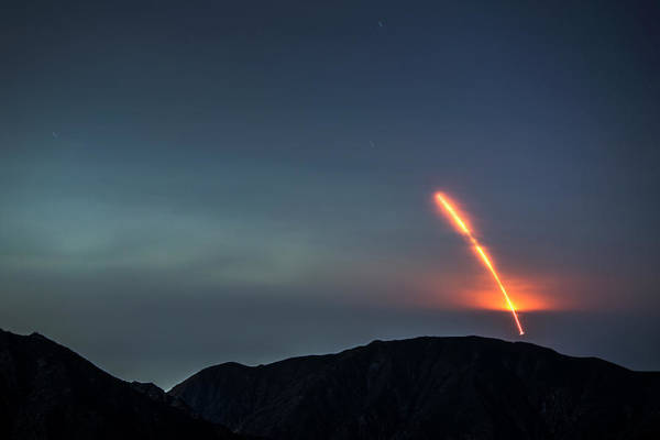 San Gabriel Mission Photograph - Nasas Insight Spacecraft Launches From by David Mcnew