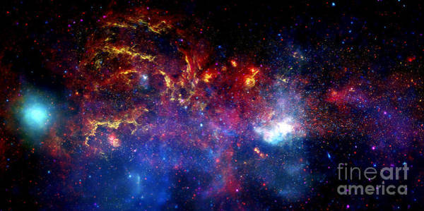 Photograph - Nasa's Montage Panorama Of Galactic Center Region by Rose Santuci-Sofranko