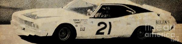 Car Drawing - Nascar 1973 by Drawspots Illustrations