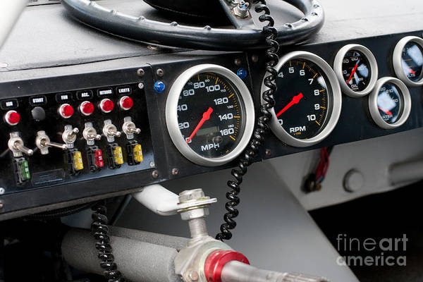 Photograph - Nascar Dash Board by Gunter Nezhoda