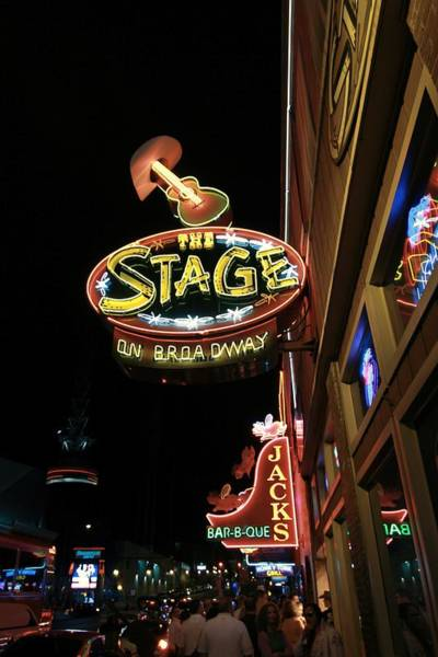 Photograph - Nashville Bars At Night by Dan Sproul