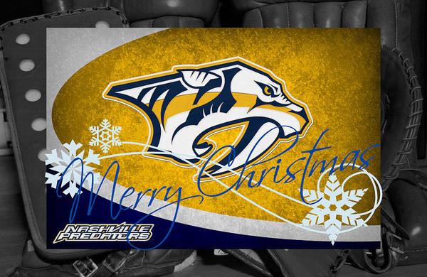 Wall Art - Photograph - Nashville Predators Christmas by Joe Hamilton