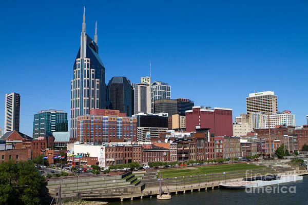 Photograph - Nashville Tennessee Skyline by Steven Frame