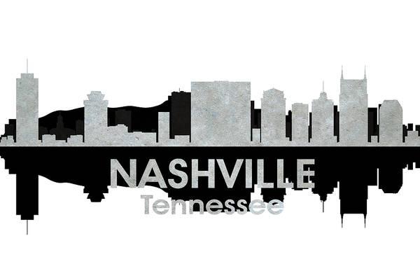 Wall Art - Mixed Media - Nashville Tn 4 by Angelina Tamez