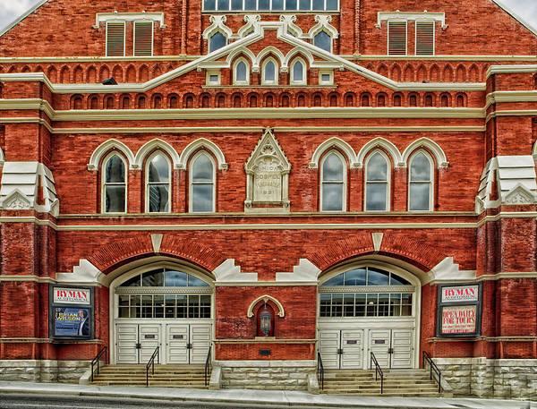Ryman Auditorium Photograph - Nashville's Historic Ryman Auditorium by Mountain Dreams