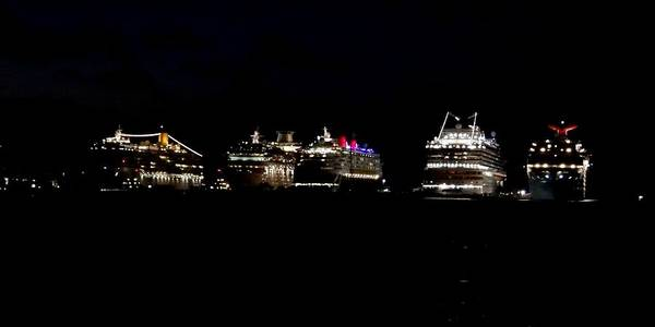 Photograph - Nassau Cruise Ships by Keith Stokes