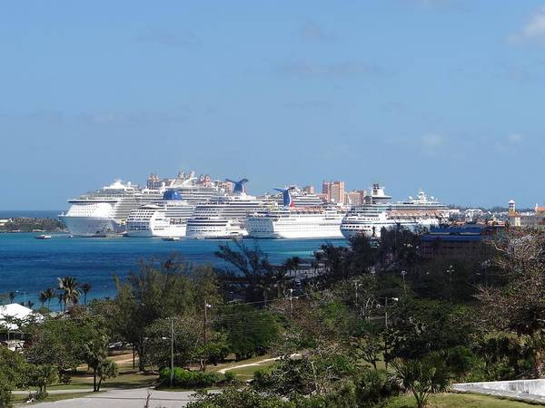 Photograph - Nassau Cruse Ships 3 by Keith Stokes