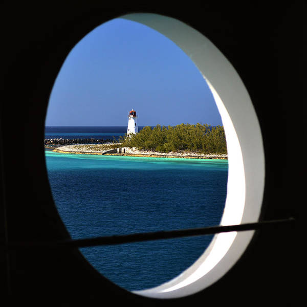 Photograph - Nassau Lighthouse Porthole View by Bill Swartwout Photography