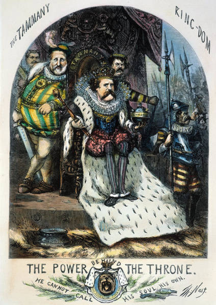 Political Cartoon Painting - Nast 'boss' Tweed, 1870 by Granger