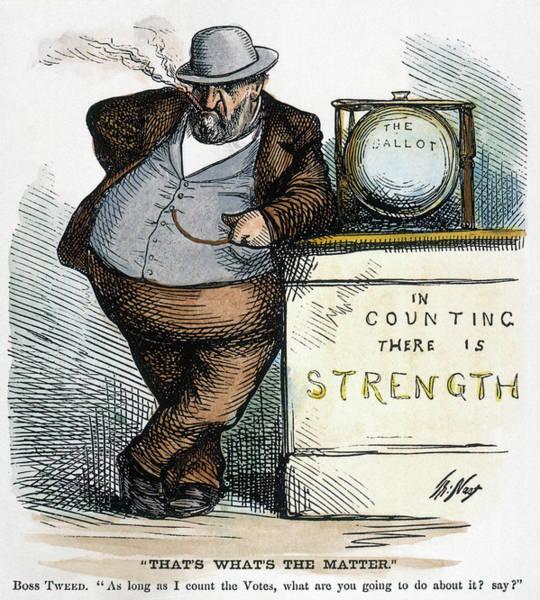 Political Cartoon Painting - Nast Tweed Corruption by Granger