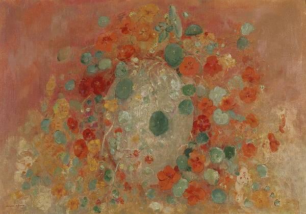 Nasturtiums Wall Art - Painting - Nasturtiums, 1905 by Odilon Redon