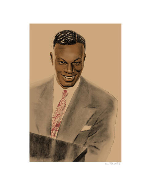 Drawing - Nat King Cole by Clifford Faust