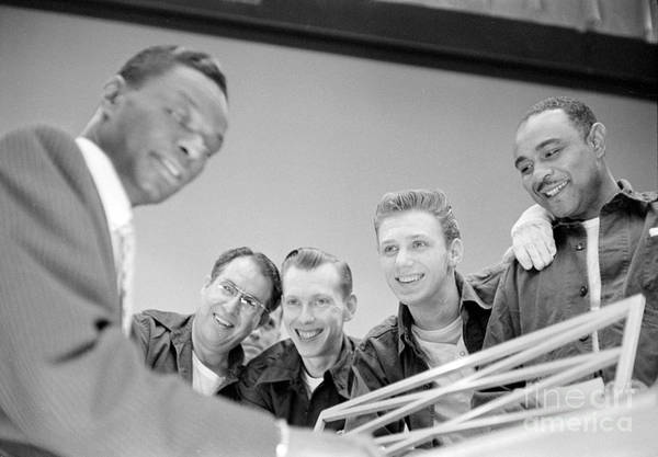 Vocalist Photograph - Nat King Cole Playing Piano For Some Fans 1954 by The Harrington Collection