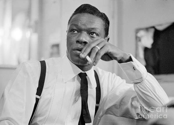 Vocalist Photograph - Nat King Cole Smoking 1954 by The Harrington Collection