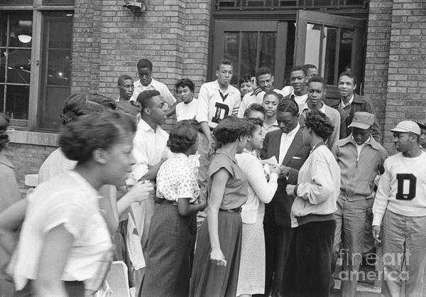 Vocalist Photograph - Nat King Cole With Fans 1954 by The Harrington Collection