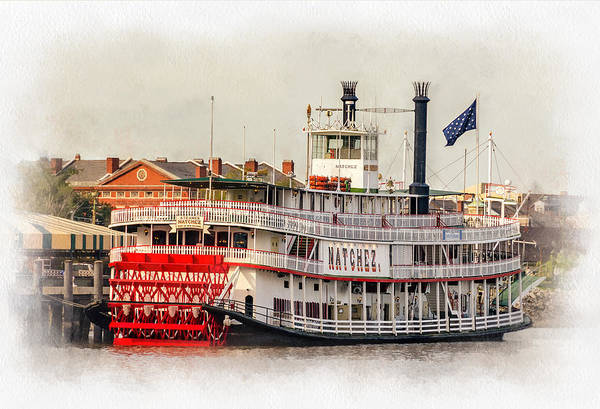 Steve Harrington Wall Art - Photograph - Natchez Sternwheeler Paint by Steve Harrington
