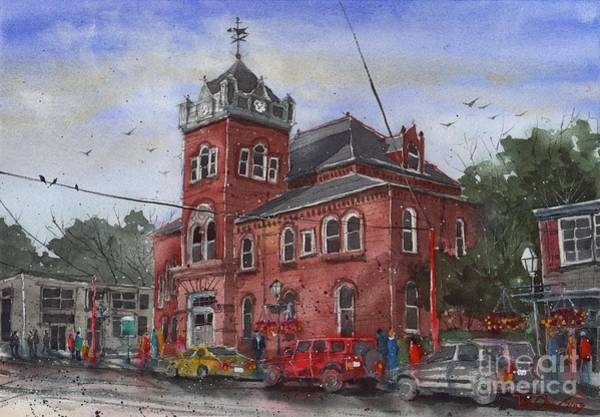Courthouse Painting - Natchitoches Parish Courthouse by Tim Oliver