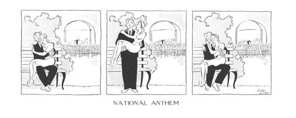 June 28th Drawing - National Anthem by Carl Rose