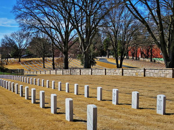 Wall Art - Photograph - National Cemetery 3 by Rene Barger
