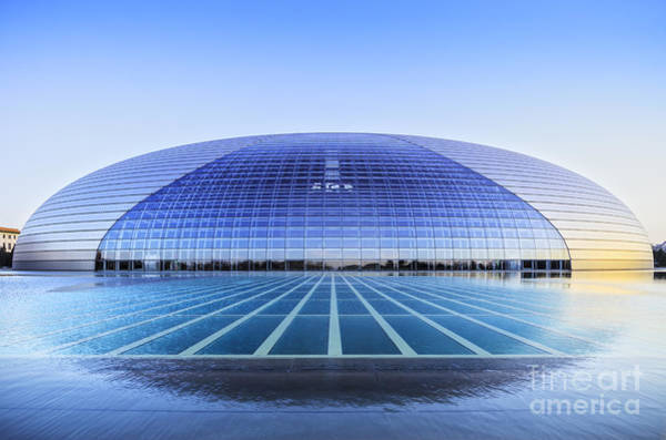 Beijing Photograph - National Centre For The Performing Arts Beijing China Sunset by Colin and Linda McKie