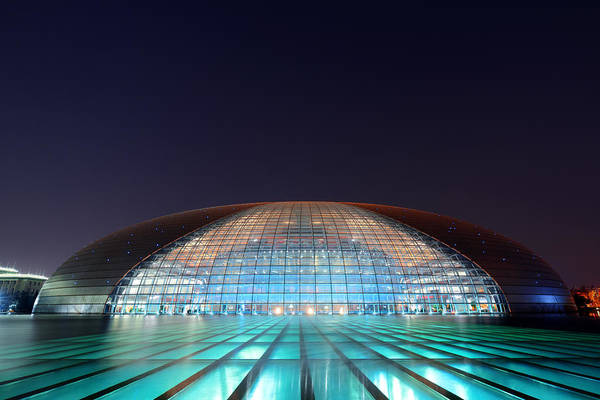Photograph - National Centre For The Performing Arts by Songquan Deng