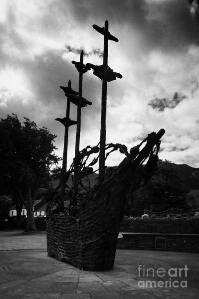 Gaelic Photograph - National Famine Memorial The Skeleton Ship By John Behan Beneath Croagh Patrick Mayo Ireland by Joe Fox