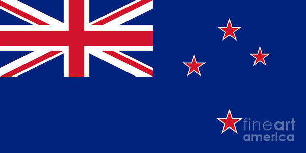 Wall Art - Digital Art - National Flag Of New Zealand  Authentic by Bruce Stanfield