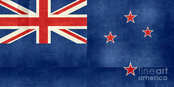 Wall Art - Digital Art - National Flag Of New Zealand  Folded Paper Textured Version by Bruce Stanfield