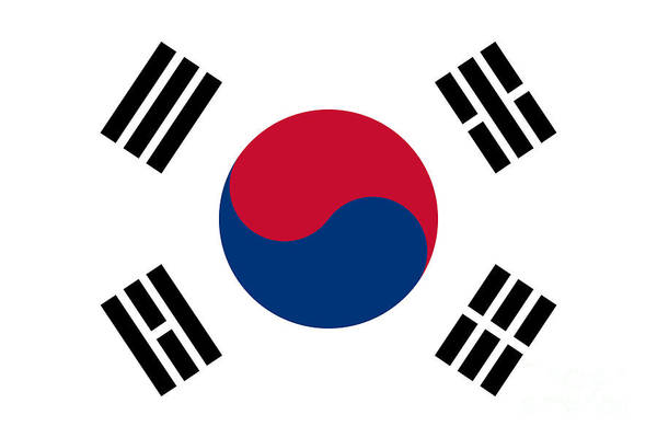 Wall Art - Digital Art - National Flag Of South Korea Authentic  by Bruce Stanfield