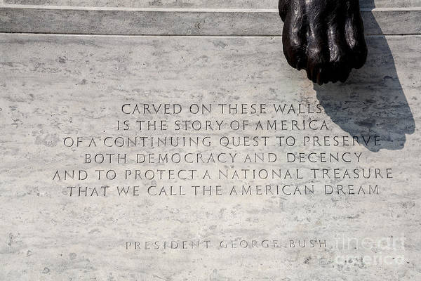 Wall Art - Photograph - National Law Enforcement Officers Memorial by William Kuta