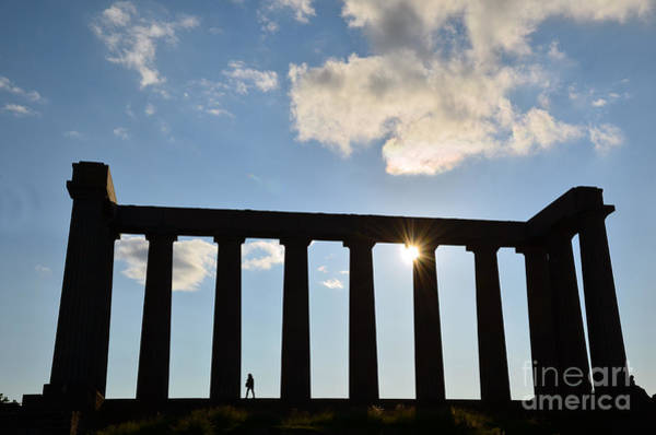 Photograph - National Monument Of Scotland In Edinburgh by Scott D Welch
