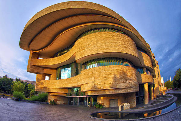 Smithsonian Photograph - National Museum Of The American Indian by Mitch Cat