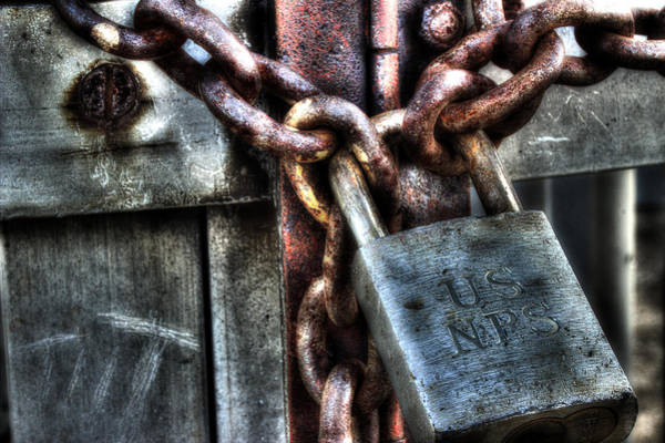 Rusty Chain Wall Art - Photograph - National Park Service by Michael Eingle