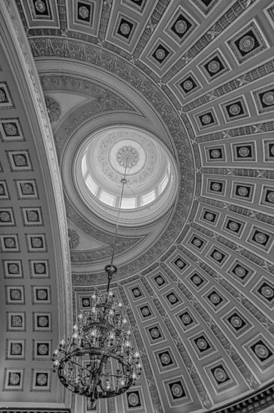 Photograph - National Statuary Rotunda Bw by Susan Candelario