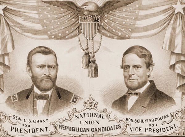 Conn Wall Art - Drawing - National Union Republican Candidates  Lith. Of Kellogg & by Litz Collection
