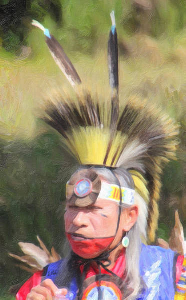 Painting - Native American 6498 by Dean Wittle