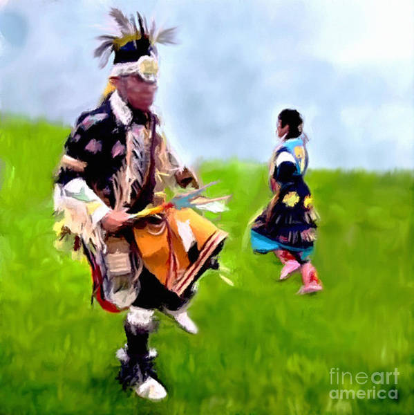 Digital Art - Native American Dancers At Heber by Bob and Nadine Johnston