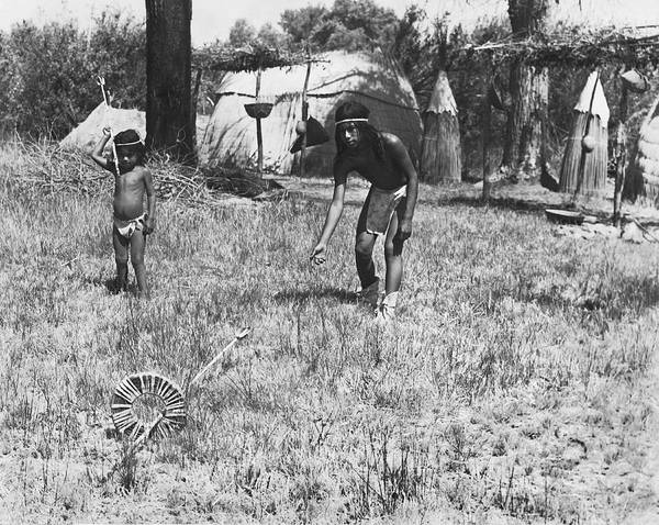 Photograph - Native American Games by Underwood Archives Onia