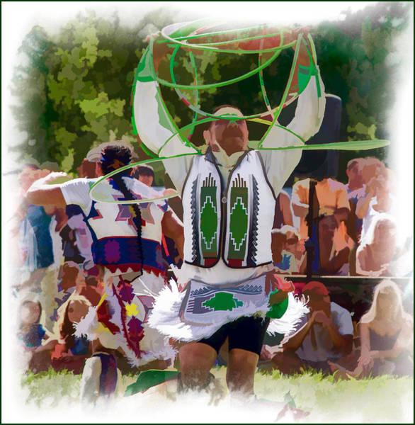 Photograph - Native American Hoop Dancer Watercolor by Eleanor Abramson