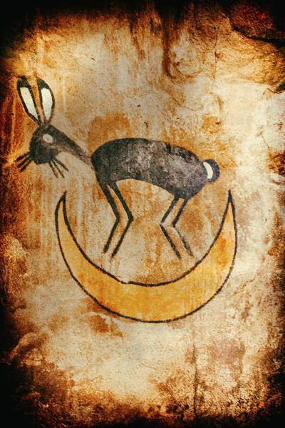 Photograph - Native American Rabbit Pictograph by Jo Ann Tomaselli