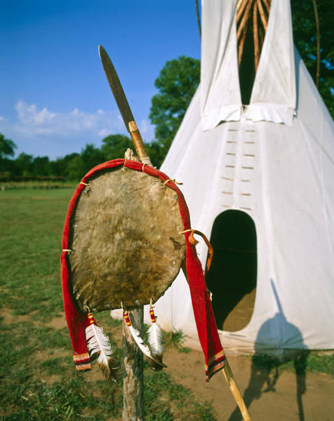 Native American Shield And Spear Art Print